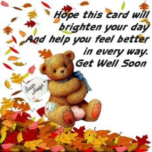 Hope You Feel Better Soon Quotes Filed under get well soon
