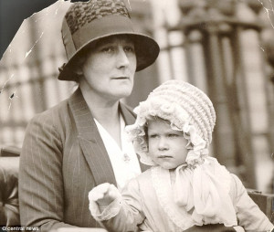 Close bond: Princess Elizabeth, as the Queen was then, returning to ...