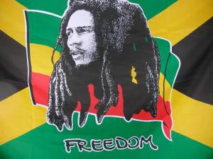 Bob on Jamaican Flag Image
