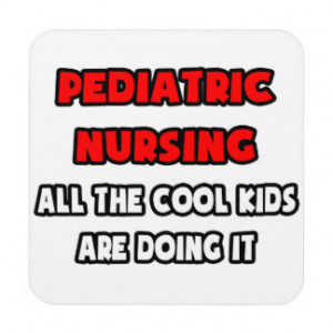 Funny Pediatric Nurse Shirts and Gifts Drink Coasters