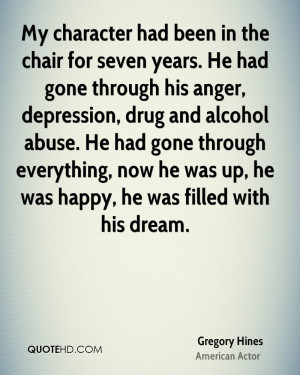 My character had been in the chair for seven years. He had gone ...