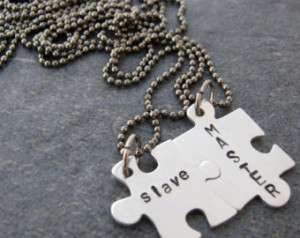MASTER and slave Connecting Puzzle Piece Necklace Set, bdsm jewelry ...