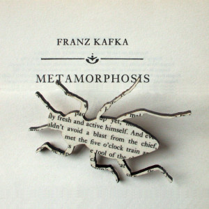 Franz Kafka - The Metamorphosis beetle brooch. Classic book brooches ...