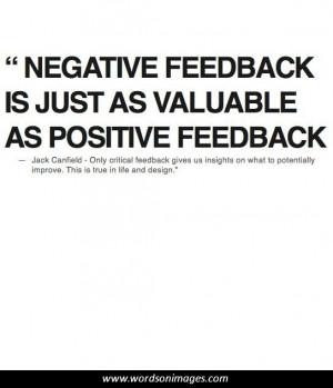 Positive feedback quotes