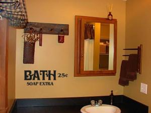 Bath Soap Extra Primitive Bathroom Decor Vinyl Wall Art Decal ...