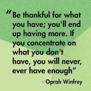 Quote by Oprah. Inspirational!