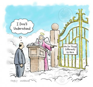 funny heaven, pastor at heavens gate, funny christian story, st peter ...