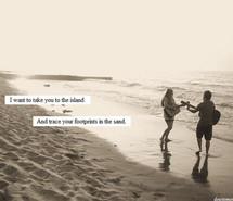beach footprints island love sand summer 85474 Quotes Summercute ...