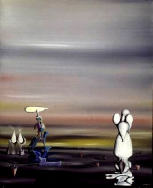 Yves Tanguy was originally a merchant seaman After seeing a picture