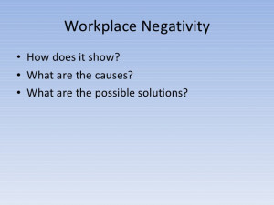 Negativity in The Workplace Quotes Workplace Negativity