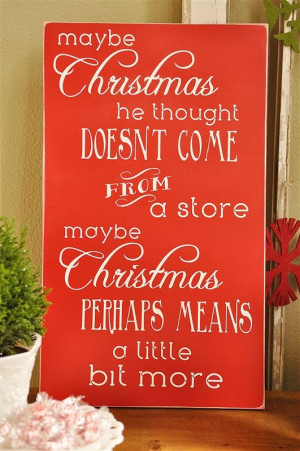 the famous Grinch quote about Christmas
