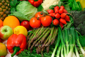 Fresh Vegetables And Fruits Stock Photo Denis Pepin