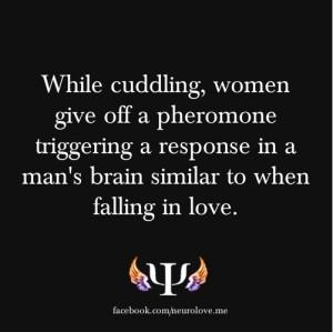 Cuddling...that explains a ottttt