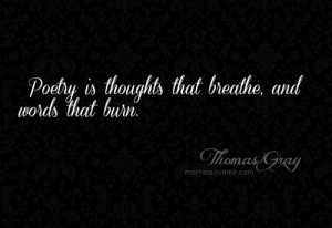 ... quotes #poetry #Black and White #quotes about poetry #Thomas Gray