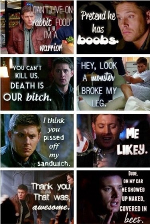 Dean quotes. #Supernatural