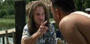 Forrest: Lieutenant Dan, what are you doing here?