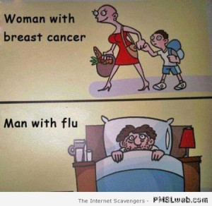 Sick woman versus sick man humor at PMSLweb.com