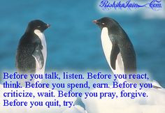 quotes and penguin pictures | ... , Life Quotes, Inspirational Quotes ...