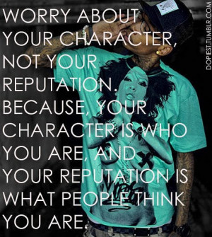 Worry about you character quote