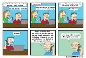 Happy Birthday Mom From Son Funny Webcomics funny