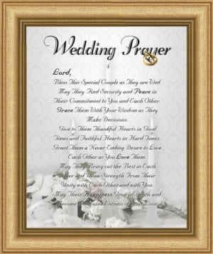 Wedding Marriage Anniversary Prayer Satin Gold Frame 8