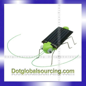divertido nuevo panel solar saltamontes energía robot de juguete para ...