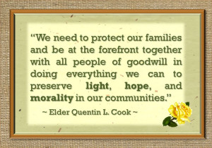 March 2014 Visiting Teaching message Quote from Elder Quentin L Cook.