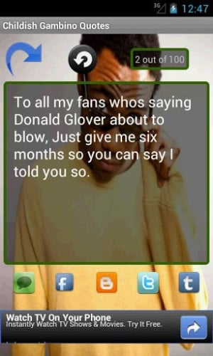 Childish Gambino Quotes App, an app filled with inspiring quotes ...