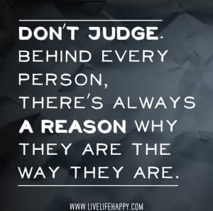 don't judge