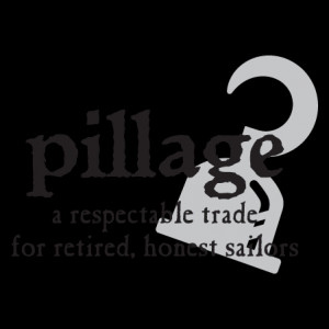 Pilage Pirate Definition Wall Quotes™ Decal