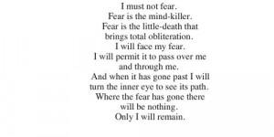 Must Not Fear