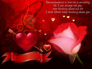 Love Quotes-Remembrance in love too is amazing
