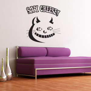 Wall Decal Vinyl Sticker Cheshire Cat Alice Wonderland Fairyt... More