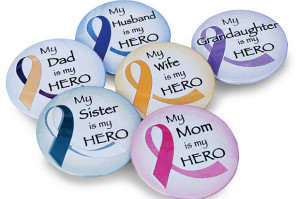 Home » Cancer Fundraising » Cancer Hero Buttons