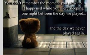 So sad - poor teddy bear