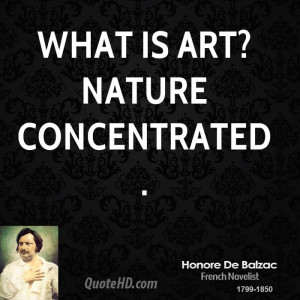 Honore de Balzac Nature Quotes