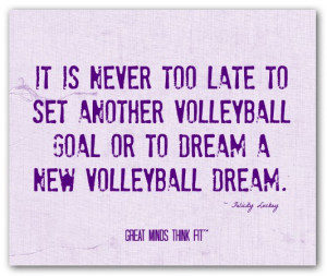 ... volleyballgoal or to dream a new volleyball dream.