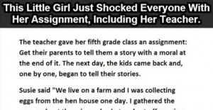 This little girl shocked everyone with her story (06 Photos)