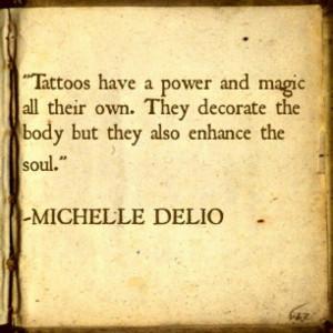 Tattoo quote. Decorate magic power