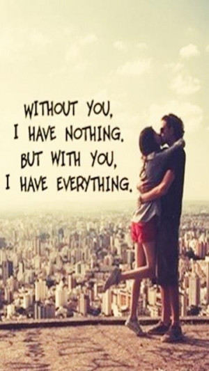 Without you i m nothing