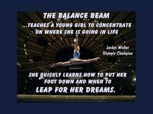 Gymnastics Poster Jordyn Wieber Gymnast Quote Wall Art 5x7