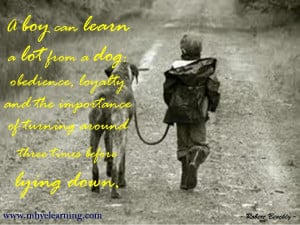boy can learn a lot from a dog