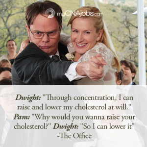Funny quote from dwight and pam