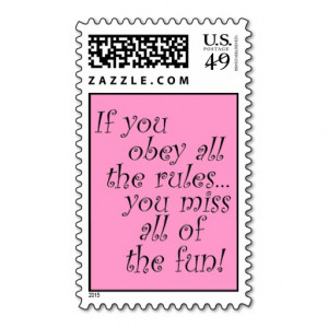 Pink funny quote postage stamps bachelorette party