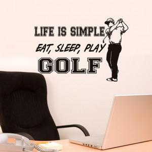 Golf+decor+Life+is+Simple+Eat+Sleep+Play+golf+by+HouseHoldWords,+$39 ...