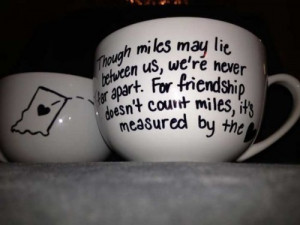 Matching Coffee Cup Pair for Long Distance Friends