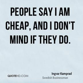 Cheap People Quotes