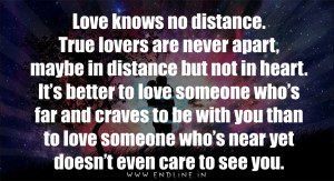 Love knows no distance...