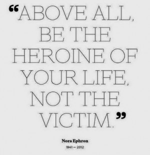 Hero of your own life #quote - Pinterest