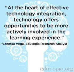 technology and education quote via www edutopia org